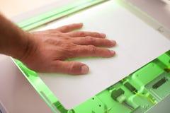 Копировальная машина, факс и блок развертки стоковое изображение