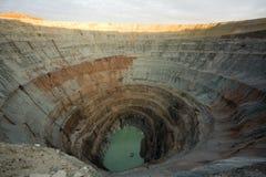 копнутая экскаватором большая яма Стоковое Изображение RF