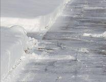 Копнутый тротуар Стоковые Изображения RF