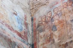 Коптская античная культура времени на Luxor Temple Стоковое фото RF