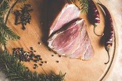 Копченая ветчина с перцем Стоковое Фото
