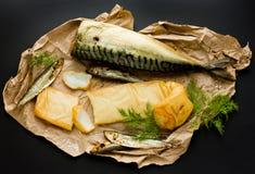 Копченые морепродукты Стоковые Фото