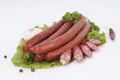 Копченые сосиски (сосиска) Стоковая Фотография RF