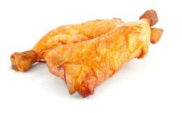 2 копченых бедренной кости цыпленка Стоковые Фотографии RF