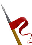 копье флага Стоковое Фото
