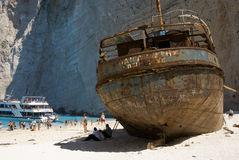 кораблекрушение залива Стоковые Фото