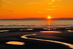 Кораблекрушение заходящего солнца Стоковые Фотографии RF