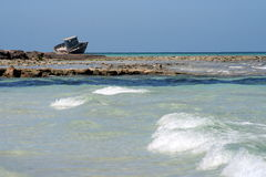Кораблекрушение на береговой линии Стоковое Изображение