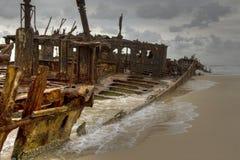 кораблекрушение острова fraser стоковое изображение
