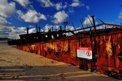 кораблекрушение maheno стоковая фотография