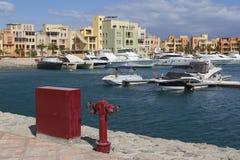 Корабли в Марине El Gouna стоковое изображение rf