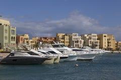 Корабли в Марине El Gouna стоковые фото