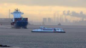 Корабли в порте Роттердама видеоматериал