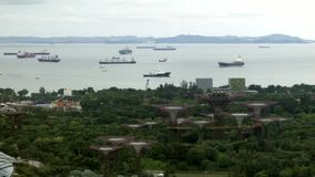 Корабли в проливе Сингапура сток-видео