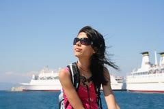 корабли девушки круиза стоковая фотография rf