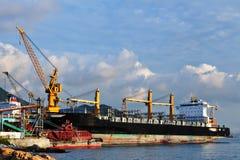 Корабли на стыковке верфи Стоковое Фото