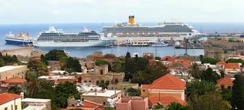 корабли порта пассажира города старые Стоковая Фотография RF