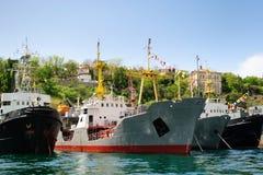 корабли порта Стоковое Фото