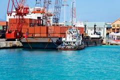 корабли порта Стоковое Изображение RF