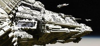 корабли разведчика крейсера сражения раскрывая Стоковые Фото