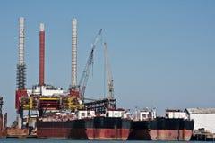 корабли стыковки большие Стоковая Фотография