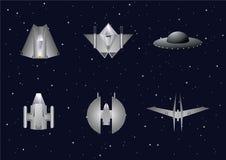 корабли установили вектор космоса Стоковые Изображения