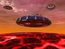 корабли чужеземца s Стоковое Изображение RF