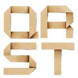 корабль алфавита помечает буквами рециркулированную бумагу origami Стоковое фото RF