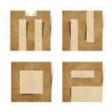 корабль алфавита помечает буквами рециркулированную бумагу origami Стоковая Фотография RF