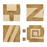 корабль алфавита помечает буквами рециркулированную бумагу origami Стоковое Изображение