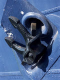 корабль анкера черный голубой Стоковые Фотографии RF