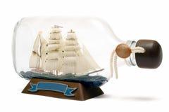 корабль бутылки Стоковая Фотография