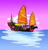 корабль ветрила Стоковая Фотография
