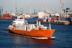 корабль гавани фрахтовщика контейнера Стоковые Изображения RF
