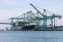 Корабль грузового контейнера тарифов и торговой войны Стоковая Фотография