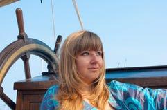 корабль девушки старый Стоковые Изображения
