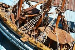 Корабль Деревянные детали корабля игрушки Стоковые Фото