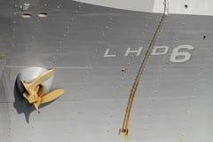 Корабль десантного катера Ос-класса USS Bonhomme Richard LHD-6 военно-морского флота Соединенных Штатов стоковые изображения