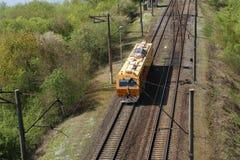 Корабль железнодорожных услуг на железной дороге Стоковые Изображения RF