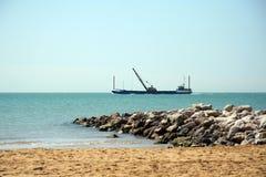 корабль земснаряда Стоковая Фотография