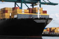 корабль контейнера крупного плана Стоковое Изображение