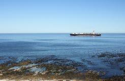 Корабль контейнера на море Стоковые Фотографии RF