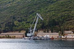 Корабль крана конструкции Стоковые Изображения