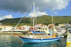 Корабль Марко Поло гавани Paxos туристский Стоковое Фото