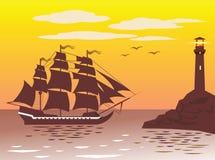 корабль маяка Стоковая Фотография
