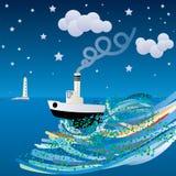 корабль моря одичалый Стоковая Фотография RF