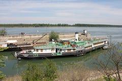 Корабль - музей Radetzky на своем порте в городке Kozlodui Стоковая Фотография