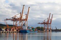 корабль нагрузки контейнера Стоковое Фото