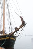 корабль пирата тумана стоковая фотография rf