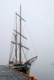 корабль пирата тумана стоковые фотографии rf